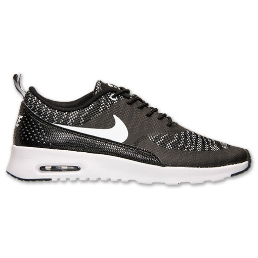 Womens Nike Air Max Thea Jacquard Running Shoes Black/White - Style 718646  001 ...