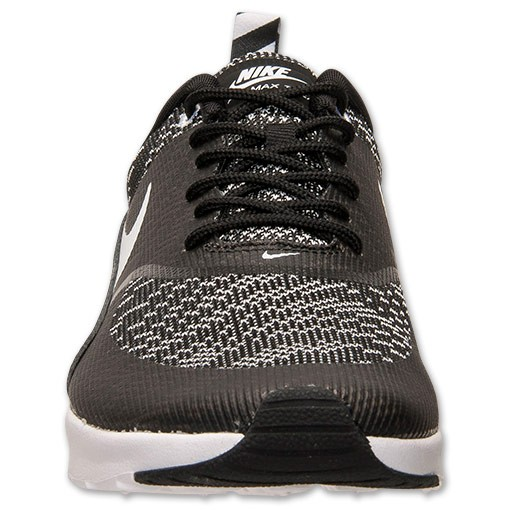 Womens Nike Air Max Thea Jacquard Running Shoes Black/White - Style 718646 001