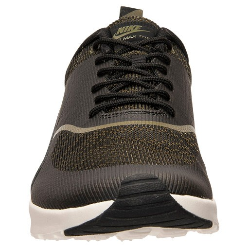 Womens Nike Air Max Thea Jacquard Running Shoes Faded Olive/Black/Sail - Style 718646 300