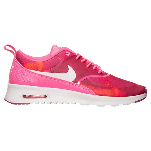 Womens Nike Air Max Thea Print Running Shoes Pink Pow/White/Fireberry - Style 599408 602