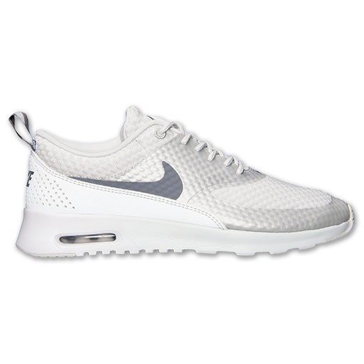 Womens Nike Air Max Thea Premium Running Shoes Light Base Grey/Cool  Grey/Metallic ...