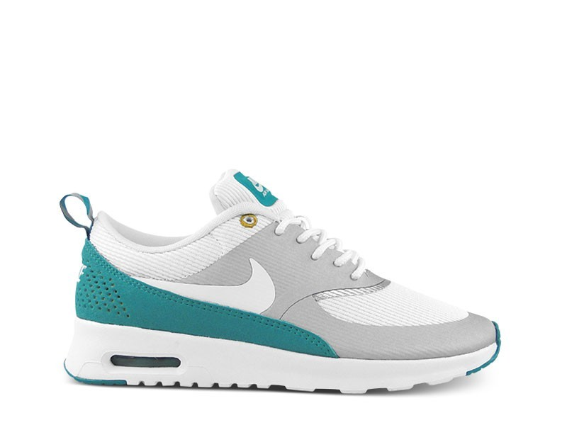 Womens Nike Air Max Thea Running Shoes Metallic Silver/White/Tribe Green - Style 599409 008