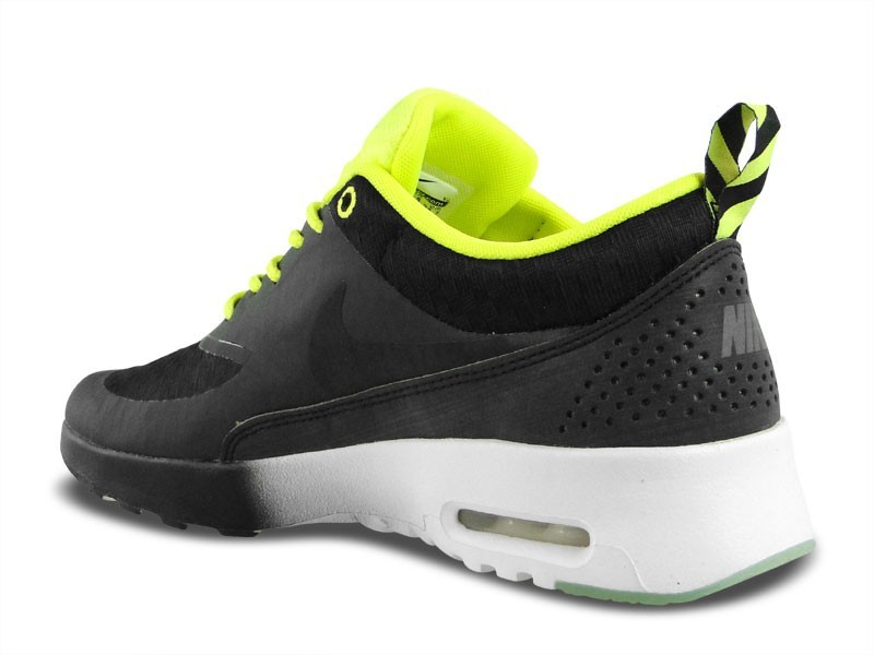 Womens Nike Air Max Thea Woven Qs Glow In The Dark Running Shoes Black/Black - Style 627249 001