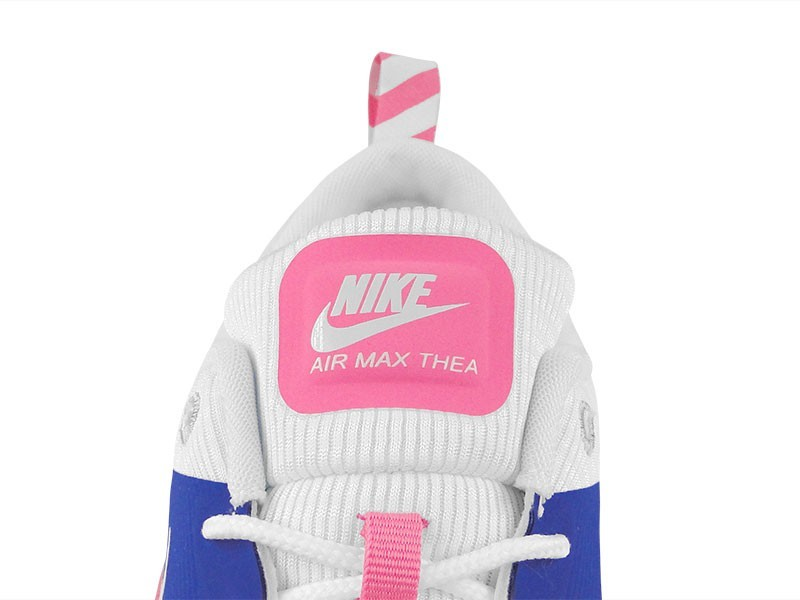 Womens Nike Air Max Thea Running Shoes Game Royal/White/Pink Glow/Wolf Grey  - Style 599409 403