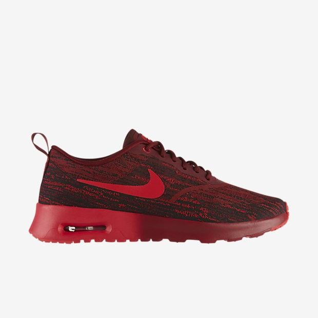 Womens Nike Air Max Thea Jcrd Jacquard Running Shoes Team Red/Action Red-Black - Style 654170 601