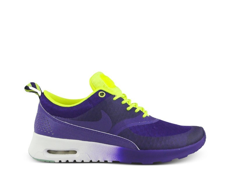 Womens Nike Air Max Thea Woven Qs Glow In The Dark Running Shoes Electric Purple/Electric Purple - Style 627249 500