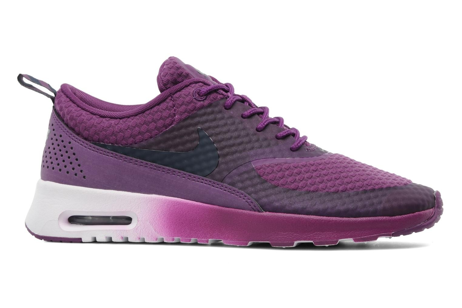 Womens Nike Air Max Thea Premium Running Shoes Bright Grape/ Obsidian/Metallic Silver/White - Style 616723 500