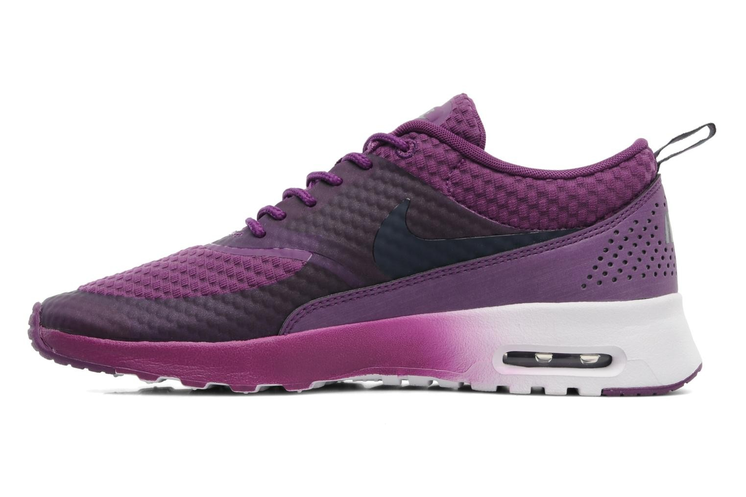 ... Womens Nike Air Max Thea Premium Running Shoes Bright Grape/  Obsidian/Metallic Silver/ ...