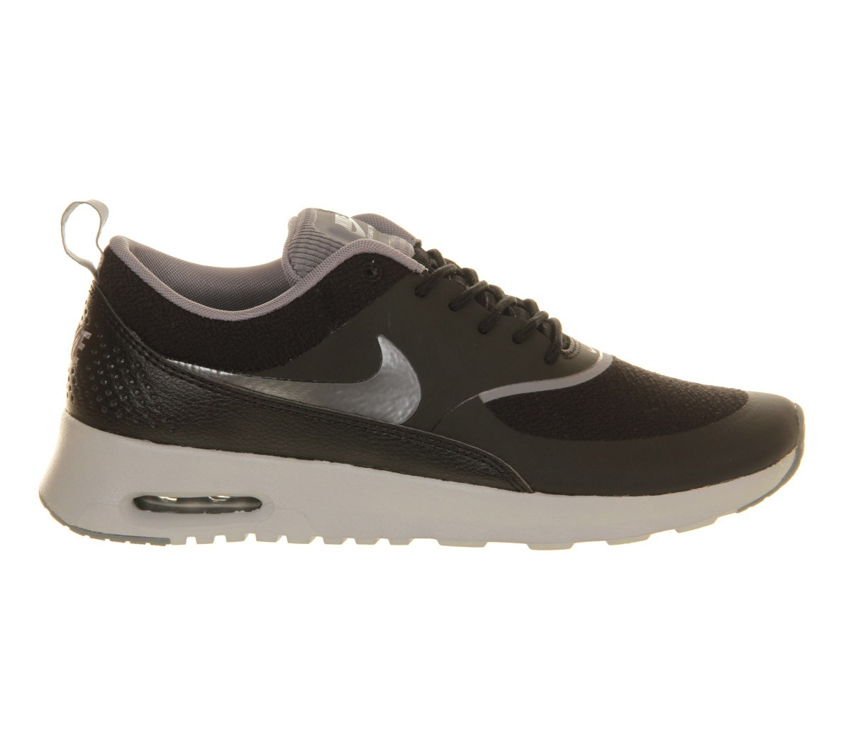 Womens Nike Air Max Thea Running Shoes Black/Grey/Metallic Silver - Style 599409 015