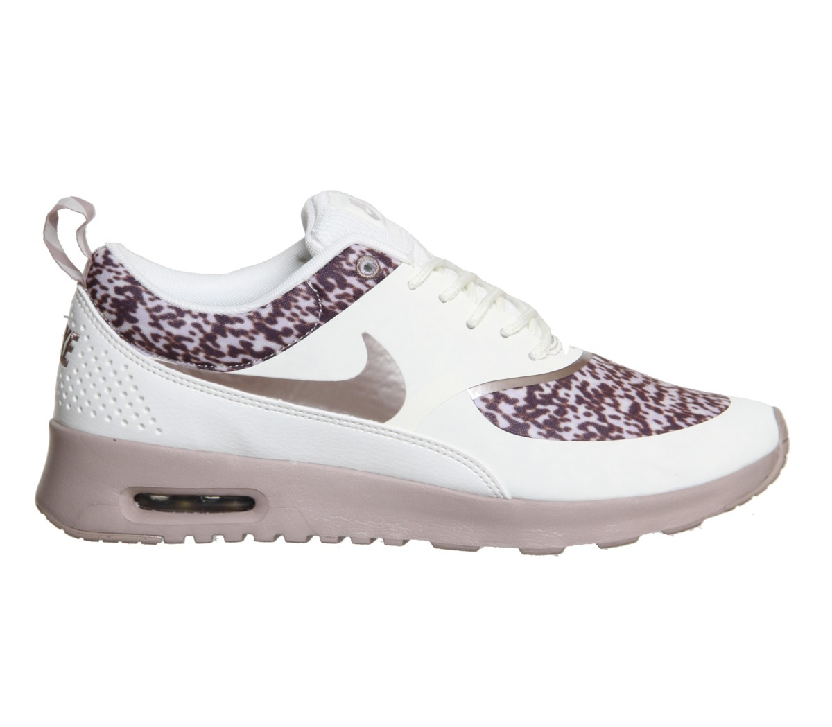 Womens Nike Air Max Thea Leopard Print Running Shoes Sail Orewood Brown - Style 599408 100