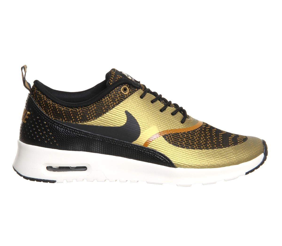 "Womens Nike Air Max Thea Jacquard ""Bronzine Pack"" Running Shoes Bronze/Black/Sail - Style 718646 700"