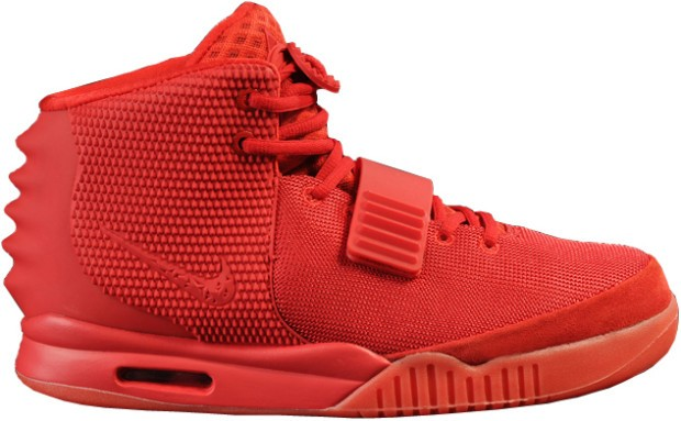 Nike Air Yeezy 2 Red October Restock Super Perfect x Kanye West 508214-660 All Red Sneakers