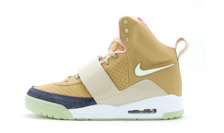 Nike Air Yeezy 1 Net / Net Colorways 366164 111 Tan (Beige) Shoes Glow in the Dark