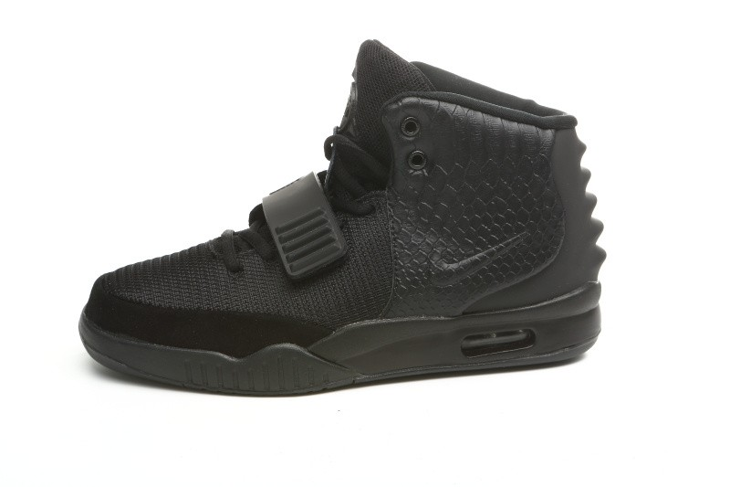 Nike Air Yeezy 2 All Black Sneakers