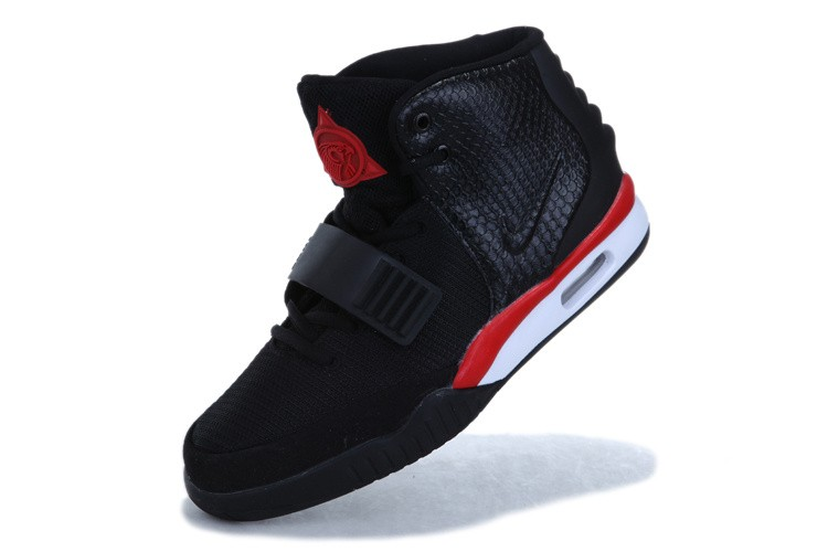 Nike Air Yeezy 2 Infrared Black Red White Sneakers