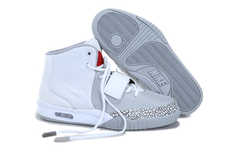 Nike Air Yeezy 2 Cement White Platinum Sneakers