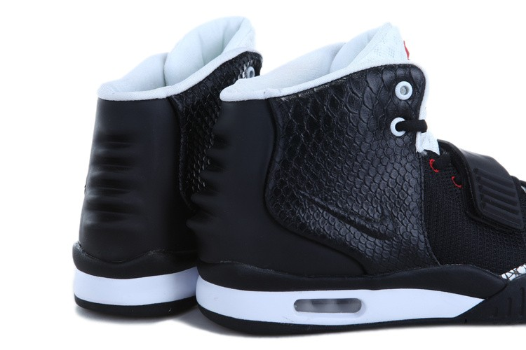 Nike Air Yeezy 2 Cement Black White Red Sneakers