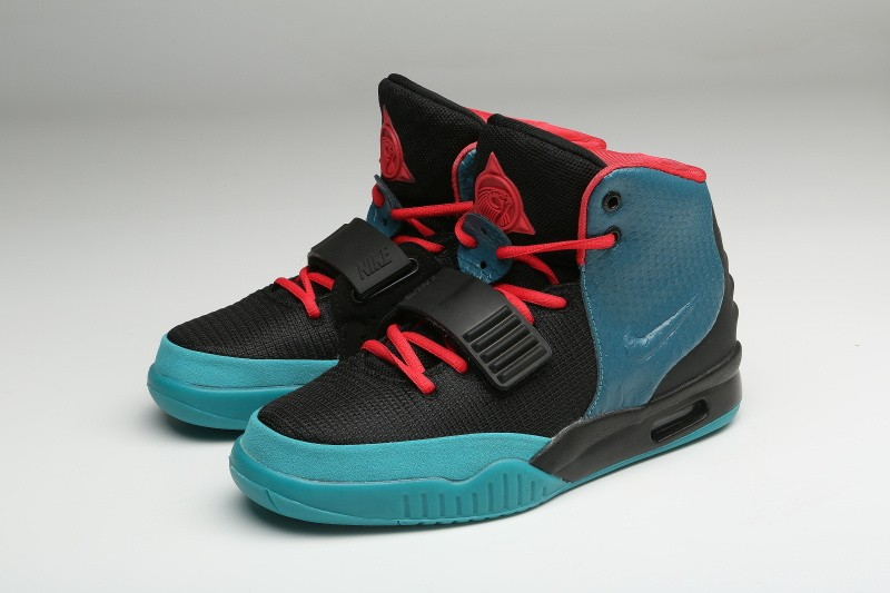 Nike Air Yeezy 2 Aqua Black Blue Red Sneakers