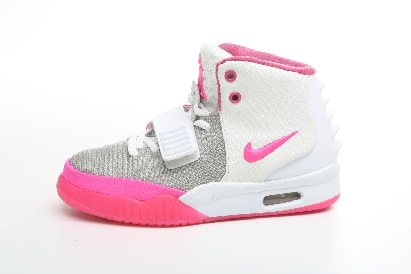 Nike Air Yeezy 2 Pink White Platinum Sneakers