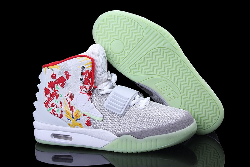 buy popular c0493 f2627 ... Nike Air Yeezy 2 Givenchy White Platinum Red Sneakers Shoes Glow in the  Dark ...