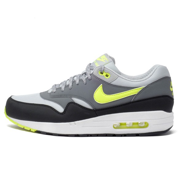 tout neuf cc4c6 ee135 Price $71 Nike Air Max 1 Essential Dusty Grey Volt Mens ...